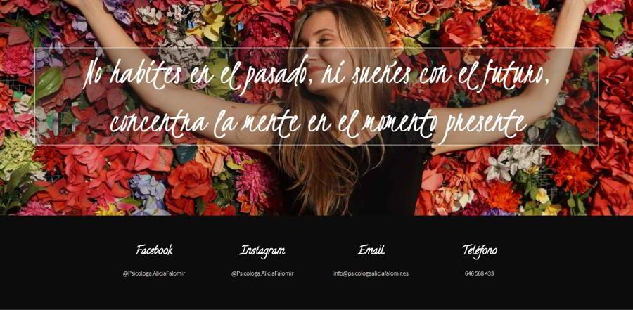 Diseño web psicóloga Alicia Falomir
