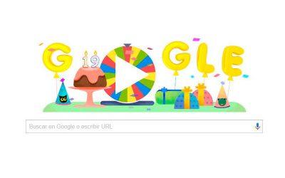 Google celebra su 19º cumpleaños con la ruleta de la fortuna