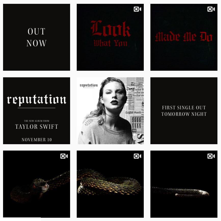 Taylor Swift en Instagram